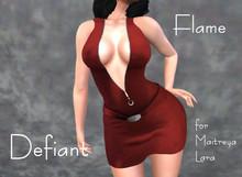 Defiant-flame-Zipper dress-red