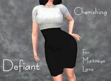 Defiant-cherishing-skirt and top- white top