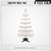[Commoner] Tabletop Tinsel Tree / White