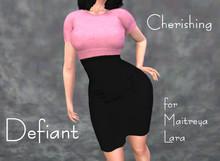 Defiant-cherishing-skirt and top-pink top