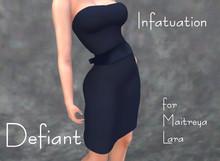 Defiant-infatuation-tube top dress w/bow-blue
