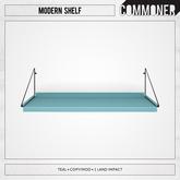 [Commoner] Modern Shelf / Teal