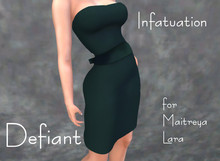 Defiant-infatuation-tube top dress w/bow-green