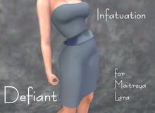 Defiant-infatuation-tube top dress w/bow-lt blue