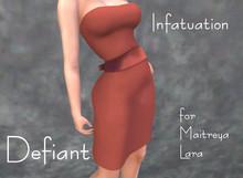 Defiant-infatuation-tube top dress w/bow-orange