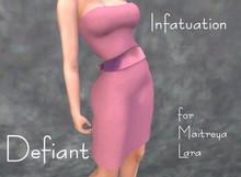 Defiant-infatuation-tube top dress w/bow-pink