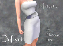 Defiant-infatuation-tube top dress w/bow-white