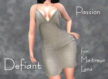 Defiant-passion-open dress-beige