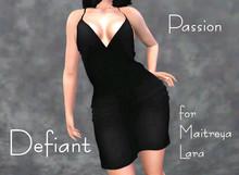 Defiant-passion-open dress-black