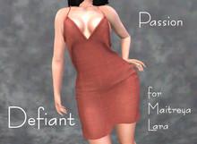 Defiant-passion-open dress-orange