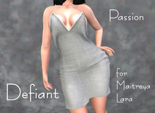 Defiant-passion-open dress-white