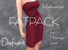 Defiant-infatuation-tube top dress w/bow-fatpack