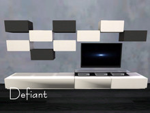 Defiant tv and stereos wall set