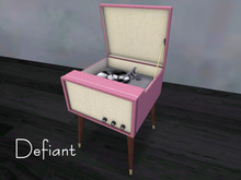 Defiant pink stereo