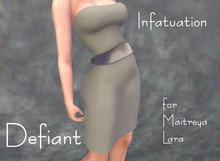 Defiant-infatuation-tube top dress w/bow-beige