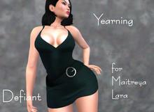 Defiant-yearning-short dress belt-green