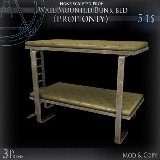 (Box) Wall Mounted Bunk bed (prop only)