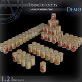 (Demo) Tinned foods
