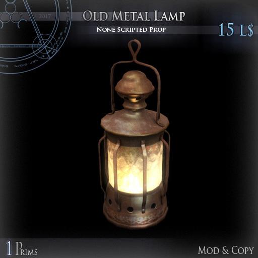 (Box) Old Metal Lamp