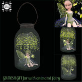 GD MESH GIFT Jar with animated fairy