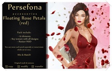 Persefona Floating Rose Petals (red)