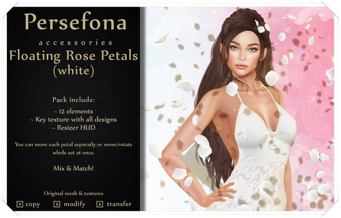Persefona Floating Rose Petals (white)