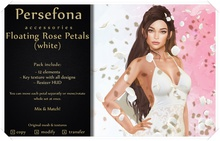 Persefona Floating Rose Petals (white)