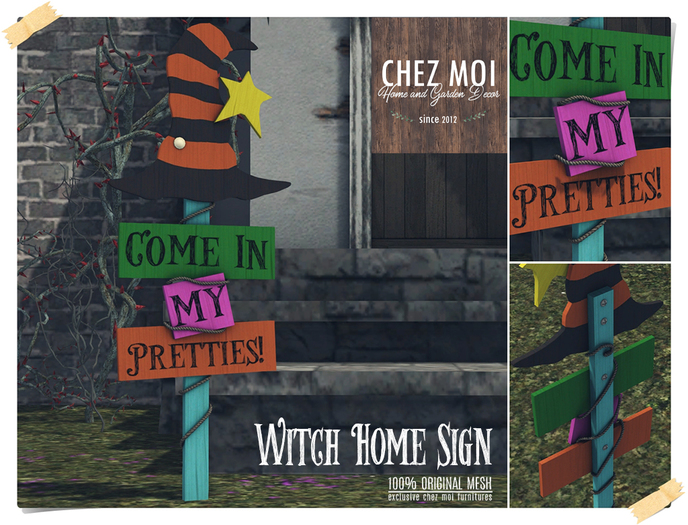 Witch Home Sign ♥ CHEZ MOI