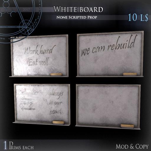 (Box) White board