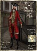 !!SMD!! Chevalier de Lorraine Frock Coat Set-Red