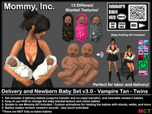 *Mommy Inc* Delivery & Newborn Vampire Babies v3.0 - Tan Twins
