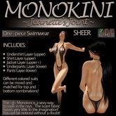 ~JJ~ Monokini (sheer)