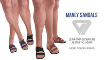 ILLI - [SLink,Signature Gianni,MeshProject Men,Aesthetic,Adam] Manly Sandals (HUD Driven) PROMO