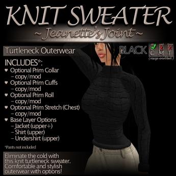 ~JJ~ Knit Sweater (black)