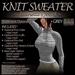 ~JJ~ Knit Sweater (grey)