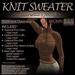 ~JJ~ Knit Sweater (brown)