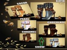 *AA* SNOWY REINDEER BOOTS Chocolate [Gatcha]