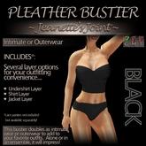 ~JJ~ Pleather Bustier (black)