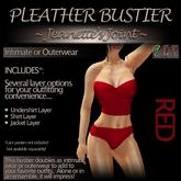 ~JJ~ Pleather Bustier (red)