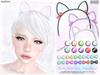 Bows cat ears headband ad slx