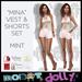 """Robot Dolly - """"Mina"""" - Vest and Shorts set - Mint"""