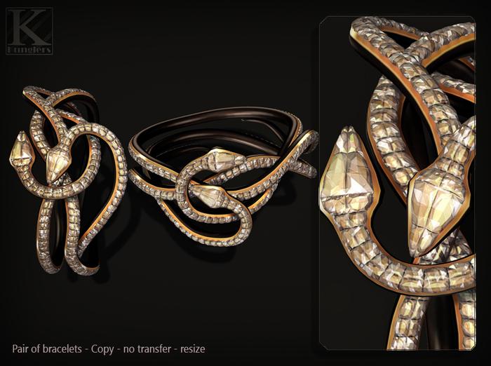(Kunglers) Cora bracelets - crystal