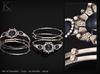 (Kunglers) Sedora bracelets - crystal