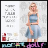 Robot Dolly - Nikki - Silk & Tulle Mini - Blue