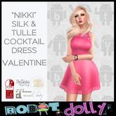 Robot Dolly - Nikki - Silk & Tulle Mini - Pink