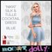 Robot dolly   nikki   silk and tulle mini   blue v2