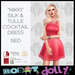 Robot dolly   nikki   silk and tulle mini   red v2