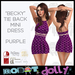 """Robot Dolly - """"Becky"""" - Tied Back Mini Dress - Purple"""