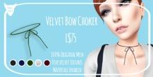 Kitty's Claws: Velvet Bow Choker