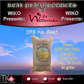 WIKO presents DFS Hay Seed * For a DFS Dirt Field * Produce your own HAY PILES * 1 PRIM ONLY